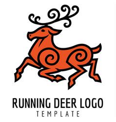 running deer vector image vector image