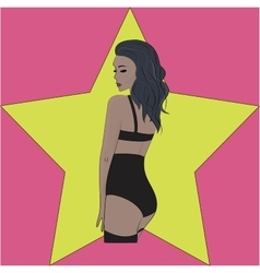 sexy girl in high panties vector image