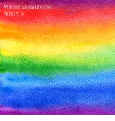 watercolor abstract rainbow background vector image