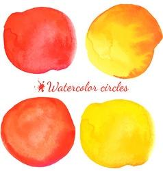 Beautiful watercolor circle elements vector image