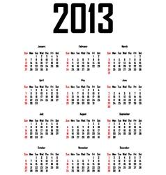 calendar for 2013 vector image