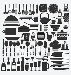 cookware kitchen set vector image