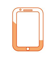 silhouette nice smartphone symbol icon design vector image