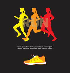 sport and fitness template vector image vector image
