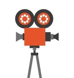 camera cinema flat line icon vector image