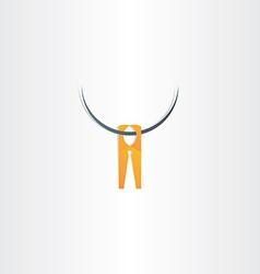 clothespin icon symbol vector image vector image