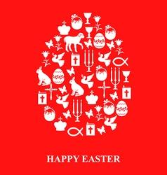easter cet egg red vector image