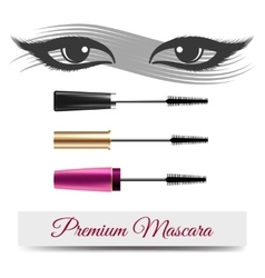 Eyes mascara smear and banner vector image vector image