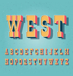serif bold vintage poster font vector image vector image