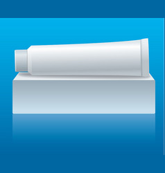 toothpaste tube packaging vector image vector image