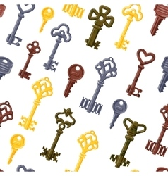 Vintage keys seamless pattern vector image