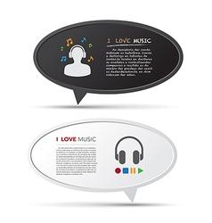 3D bubble talk blackboard Design element EPS10 vector image vector image