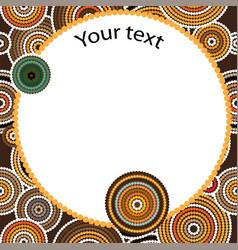 Aboriginal art seamless background vector