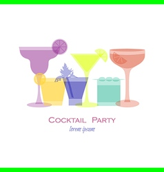 cocktail opacity vector image