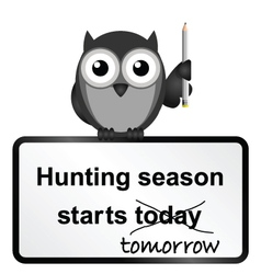 Hunting season vector