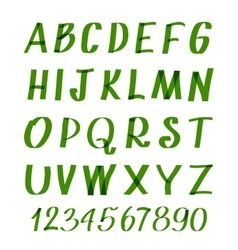 Marker letters and numbers hand written vector image