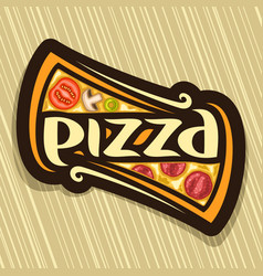 poster for pizza vector image