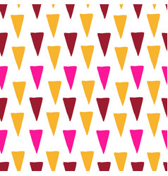 triangular colorful hand drawn seamless pattern vector image vector image