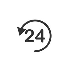 24h nonstop line icon simple modern flat for vector image