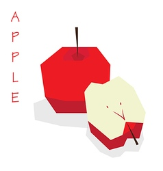3D Red Apple vector