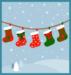 A bunch of stockings vector