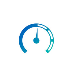 analog gauge meter in circle for graphic and web vector image