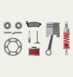 auto and moto parts vector image
