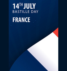 bastille day of france flag and patriotic banner vector image
