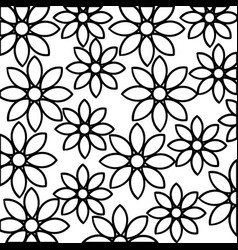 beautiful flower pattern decoration icon vector image