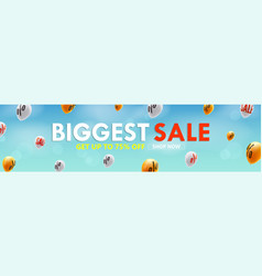 biggest sale get up to 75 percent discount shop vector image