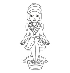 Black and White Spa Girl vector image