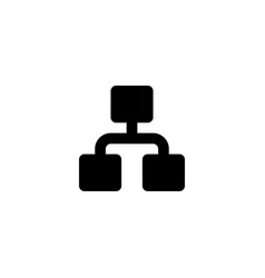 Busines network icon mangement sign vector