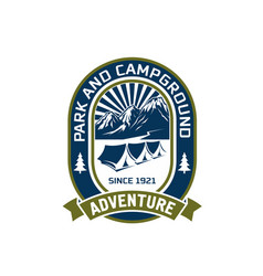 camping outdoor mountain adventure club vector image