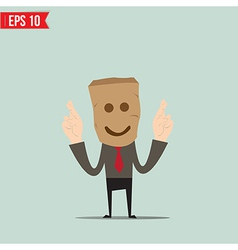 Cartoon Businessman making a wish- - EPS10 vector image
