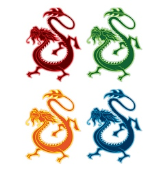 Chinese style dragon icon vector