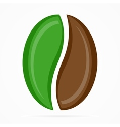 Coffee bean logo or icon vector