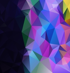 color full black abstract polygon triangular vector image