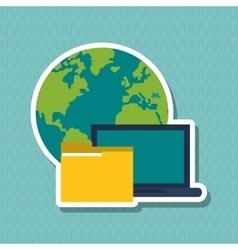 Colored data center graphic design vector