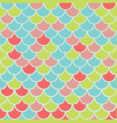 colorful fish scale seamless pattern vector image