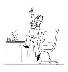 comic cartoon office worker or man or vector image