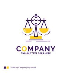 Company name logo design for balanced management vector