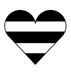 cute heart love striped color image vector image vector image