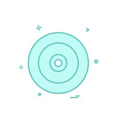 disk icon design vector image