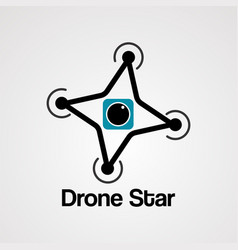 drone star logo icon element and template vector image