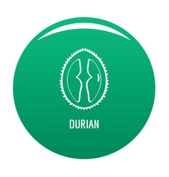 durian icon green vector image