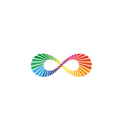 endless colors symbol logo vector image