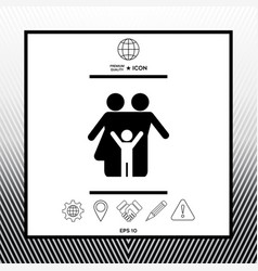 Family symbol icon vector