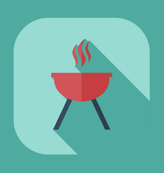 Flat modern design with shadow icons barbecue vector