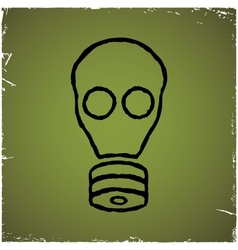 Gas mask on old scratched background vector image