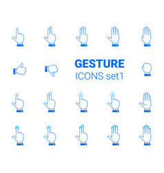gesture icons set vector image